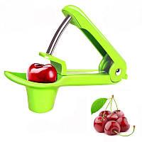 Машинка для удаления косточек из вишни, cherry olive pitter, вишнечистка, зелёная, в Украине