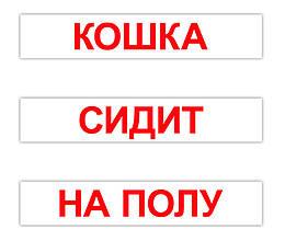 """Большие карточки с фактами /рус.-укр./ """"Чтение по Доману"""", 120 слов"""