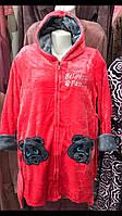 Халаты софт с капюшоном на змейке до колена,размеры M L XL XXL, фото 1