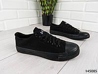 """Кеды, кроссовки, мокасины черные в стиле """"Converse"""" текстиль, повседневная, удобная, весенняя, мужская обувь"""