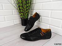 """Туфли, в спортивном стиле черные """"Farade"""" эко кожа, повседневная, удобная, весенняя, мужская обувь"""