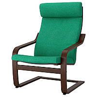 IKEA POANG (692.416.48) Кресло, коричневый, Knisa красный/оранжевый оранжевый