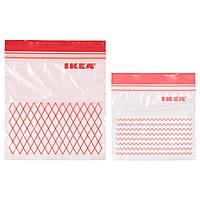 IKEA ISTAD (203.392.84) Пластиковый пакет, красный