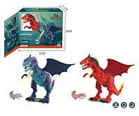 Интерактивное животное 1041A Дракон, 2 цвета, свет,звук, проектор, в коробке 32*26*12см