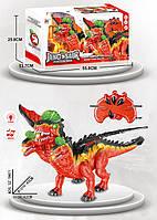 Животное на р/у  844B  динозавр, свет, звук, ходит,пульт, изделие 25*45*42, в коробке 56*14*
