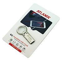 Мини-флешка с кольцом для ключей 2.0 8Gb ATLANFA AT-U2