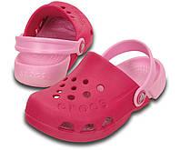 Кроксы для девочки сабо Электро оригинал / Crocs Kids' Electro Clog (10400), Розовые