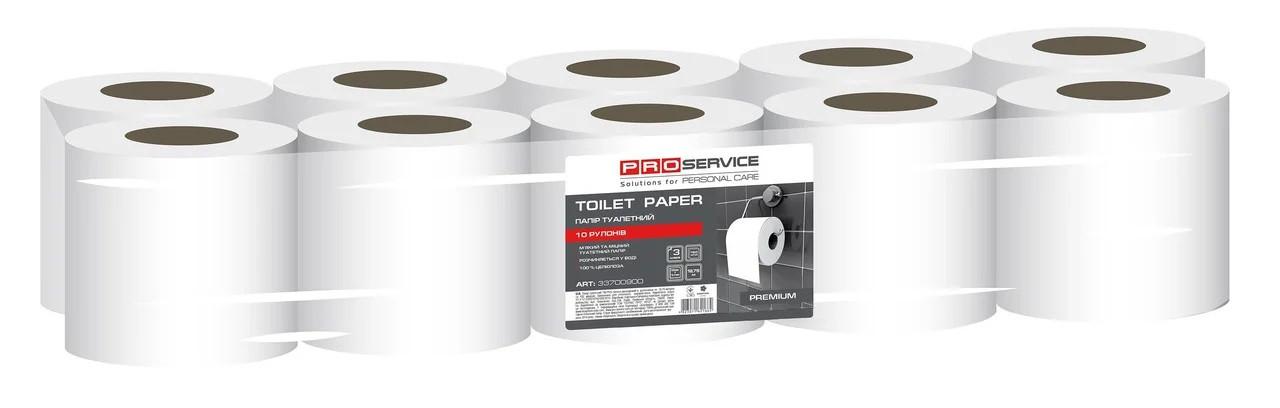 Туалетная бумага в рулонах PROservice Premium трехслойная белая