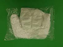 Одноразовые перчатки полиэтиленовые, без крепления, 100шт/ пач