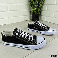 """Кеды мужские, черные в стиле """"Converse"""" текстильные, кроссовки мужские, мокасины мужские, повседневная обувь"""
