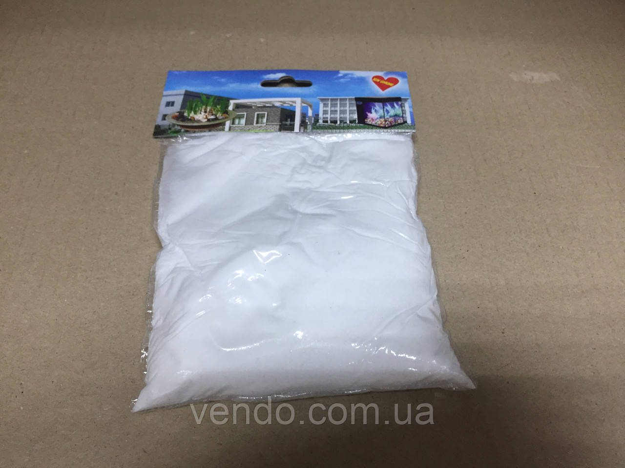 Декоративный цветной песок наполнитель 350 гр. фракция №4 белый