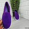 """Мокасины женские, пурпурные """"Dally"""" текстильные, кроссовки женские, кеды женские, повседневная обувь, фото 5"""