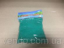 Декоративный цветной песок наполнитель 350 гр. фракция №4 зеленый