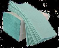 Полотенце бумажное в пачке V-складка зеленое 160 листов