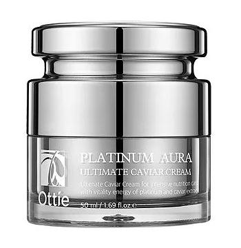 Крем для обличчя з платиною Ottie Platinum Aura Ultimate Caviar Cream 15 мл