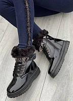 Стильные женские (подростковые) зимние ботинки, (р. 36-41)