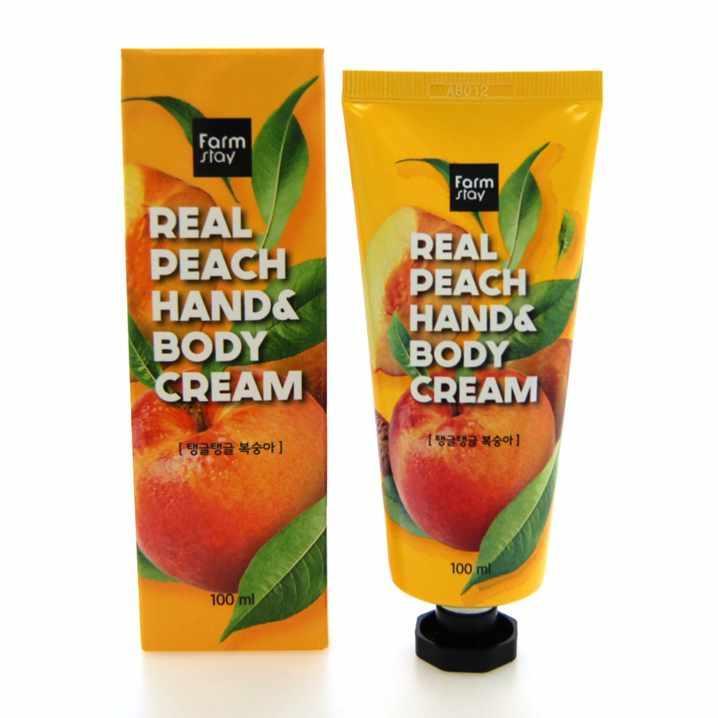 Крем для рук и тела с экстрактом персика Farm Stay Real Peach Hand & Body cream
