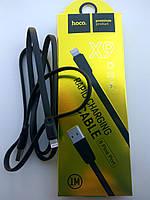 Кабель для зарядки и синхронии iPhone 5s SE 6 Plus 6s 7 7Plus 8 8 Plus X 10 XR XS Max XS 11 Pro Lightning Hoco Кабель USB, Черный