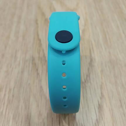 Ремешок для Фитнес-Трекера,  XIAOMI MI BAND 3 / 4 одноцветный - Light blue - Светло Голубой, фото 2