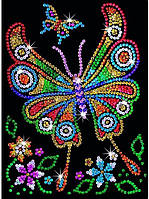 Набор для творчества картина из пайеток Бабочка Sequin Art RED SA1209