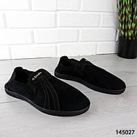 """Мокасины мужские, черные """"Kgace"""" текстильные, туфли мужские, повседневная, удобная, весенняя, мужская обувь"""