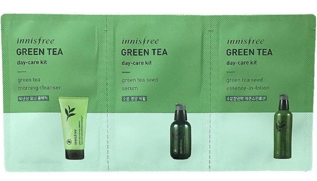 Набор из трех пробников (Пенка, гель-пенка, слабокислотный состав) Innisfree Green Tea Cleansing Kit