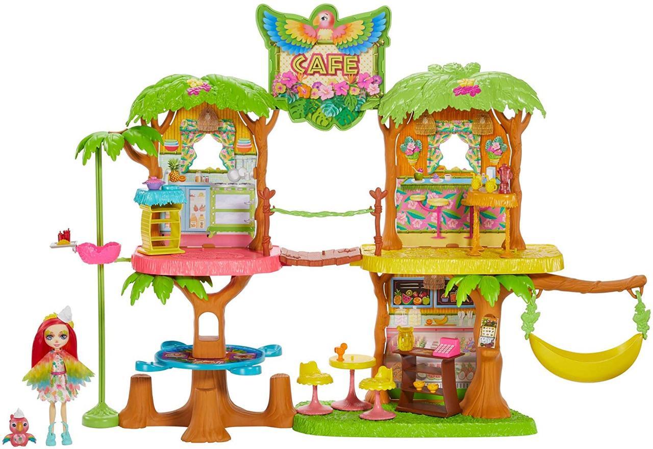 Игровой набор Энчантималс кафе в джунглях и попугайчик Пикки Enchantimals Junglewood Cafe