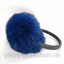 Наушники меховые Зимние кролик Синий цвет