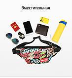 Бананка Sankey сумка на пояс через плече желтая  Код 13-1135, фото 7