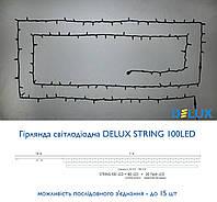 Гирлянда уличная DELUX STRING 100LED 10m (2*5m) 20 flash зелен/черн IP44 EN