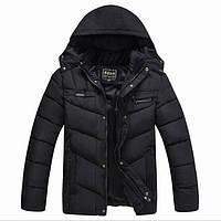 Зимняя теплая куртка пуховик с капюшоном Classic р-р 48