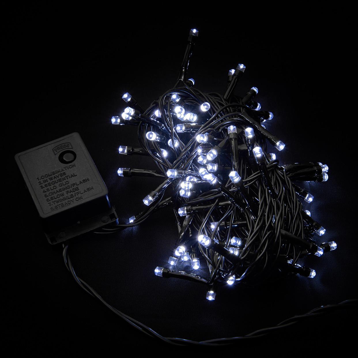 Гирлянда DELUX STRING С 100LED 5m белый/черн IP20