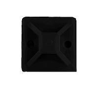 ElectroHouse Площадка для стяжки (хомутов) самоклеящаяся 20х20 мм черная нейлон