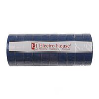 ElectroHouse Изолента синяя 0,15мм х 18мм х 11м
