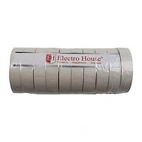 ElectroHouse Изолента белая 0,15мм х 18мм х 21м