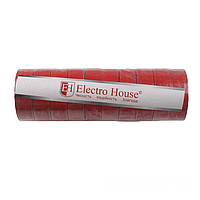 ElectroHouse Изолента красная 0,15мм х 18мм х 21м