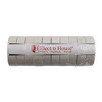 ElectroHouse Изолента белая 0,15мм х 18мм х 50м