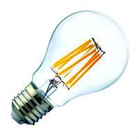 """Лампа светодиодная """"FILAMENT-8"""" Horoz 8W E27 (2700K), фото 1"""