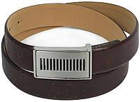 Мужской ремень под брюки Vanzetti кожаный 107 см Темно-коричневый (100037)