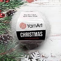 Пряжа ЯрнАрт Кристмас YarnArt Christmas, цвет №02 белый
