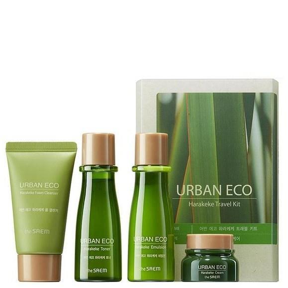 Набор кремов для улучшения и оздоровления кожи The Saem Urban Eco Harakeke Travel 4 Kit