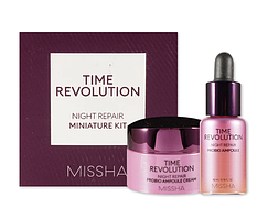 Ночная восстанавливающая серия средств для лица Missha Revolution Night Repair Miniature 2 type Kit
