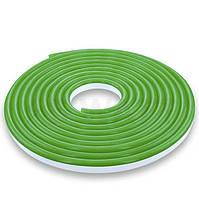Гибкий Led неон 12v зеленый #55-G 120G2835-12V-6W/m IP65 8*16mm