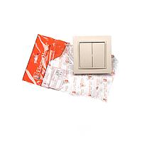 ElectroHouse Выключатель двойной латте Enzo  IP22