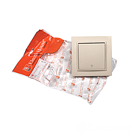ElectroHouse Выключатель проходной латте Enzo IP22
