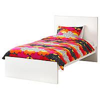 IKEA MALM (190.095.62) Кровать, высокий, белый витраж, Luroy