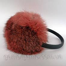 Наушники меховые Зимние кролик Оранжевый цвет