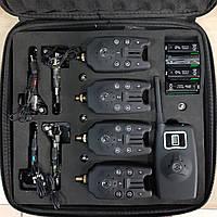 Набор электронных сигнализаторов поклевки с пейджером и свингерами в комплекте  4+1
