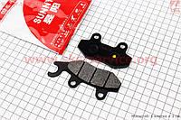 Тормозные колодки дисковые с ухом задние к-т(2шт.) на скутер