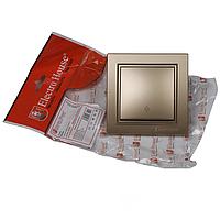 ElectroHouse Выключатель проходной золото Enzo EH-2186-LG.